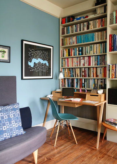 Eclectic Home Office & Library by Alison Hammond Photography