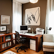 Transitional Home Office by Vicki Simon Interior Design