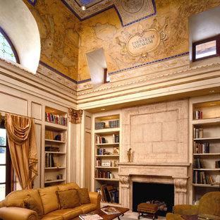 ワシントンD.C.の地中海スタイルのおしゃれなホームオフィス・書斎の写真