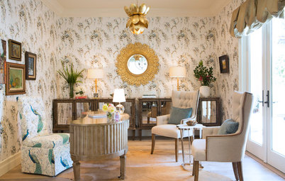 Room of the Day: Beautiful Whimsy for a Busy Mother's Home Office
