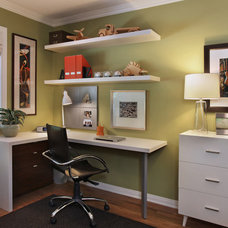Modern Home Office by Cathy Morehead