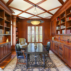 Traditional Home Office by Matthew Bolt Graphic Design