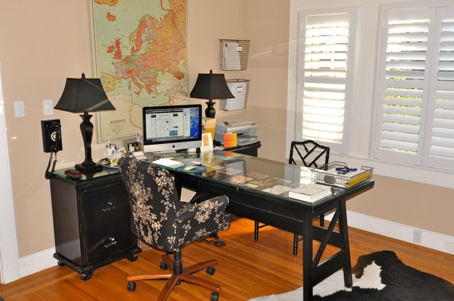 Contemporary Home Office by Kerrie L. Kelly