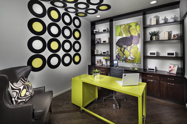 Contemporary Home Office by TRIO Environments
