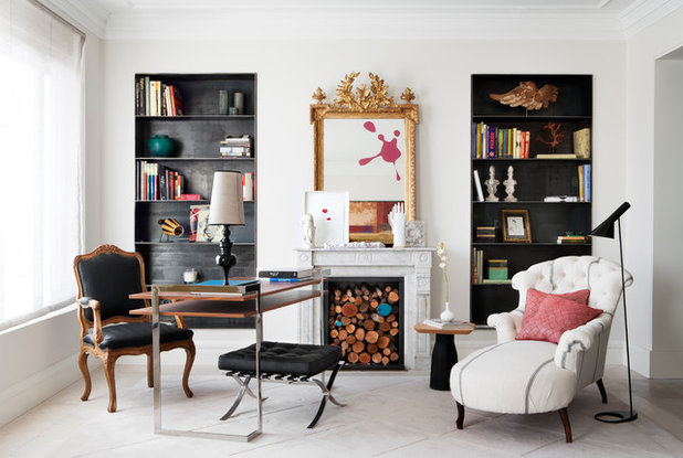 Contemporary Home Office & Library by Andina & Tapia