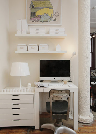 Cute Eclectic Home Office by Valerie McCaskill Dickman