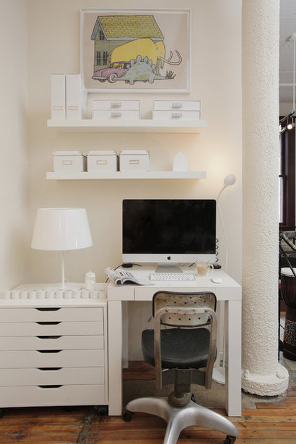 Eclectic Home Office by Valerie McCaskill Dickman