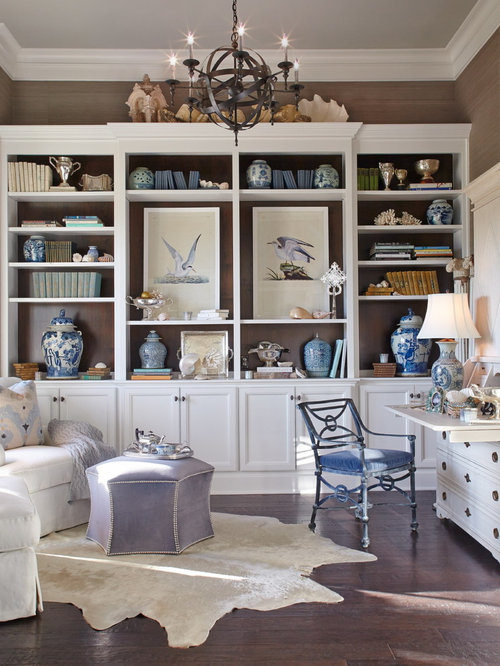 Stylish Study Room: Beach Style Home Office Design Ideas, Remodels & Photos