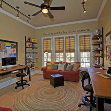 Traditional Home Office by Keri Morel Designs
