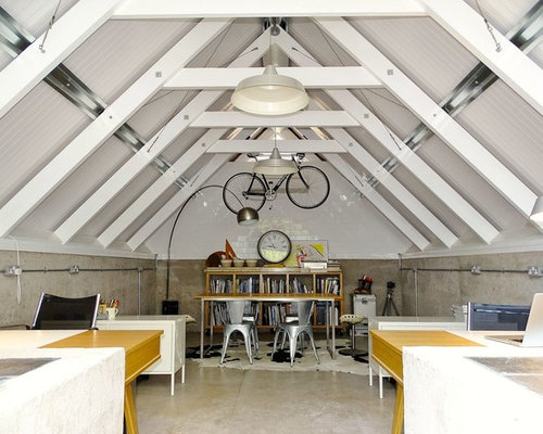 loft office. Inspiration For A Large Industrial Home Office Remodel In Hampshire Loft O