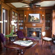 Traditional Home Office by Max Crosby Construction