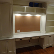Traditional Home Office by mcwoodworking