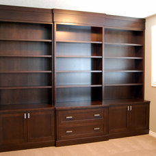 Traditional Home Office by Cabinet Effects