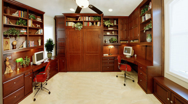 Traditional Home Office by Pacific Coast Custom Design