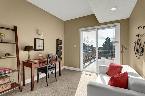 Contemporary Home Office by Seattle Staged to Sell and Design LLC