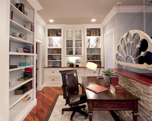 Transitional Home Office transitional half wall home office ideas & design photos | houzz