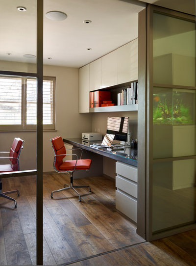 Contemporary Home Office & Library by Ensoul Ltd