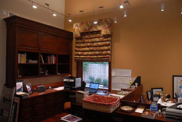 Eclectic Home Office by CMI Interiors, Inc.