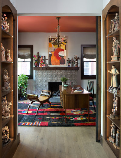 Eclectic Home Office by Atelier Interior Design