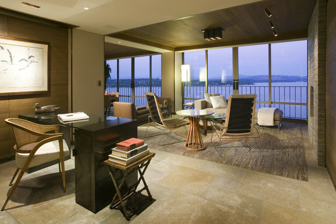 Contemporary Home Office by Bosworth Hoedemaker