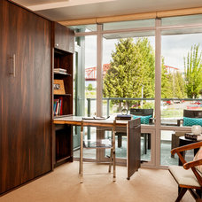 Contemporary Home Office by Garrison Hullinger Interior Design Inc.