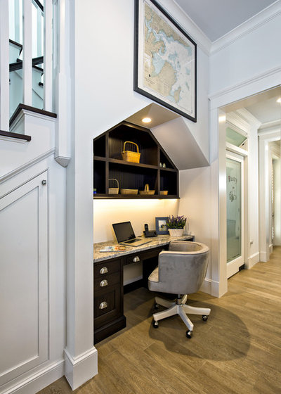 American Traditional Home Office by Distinctive Kitchen Interiors