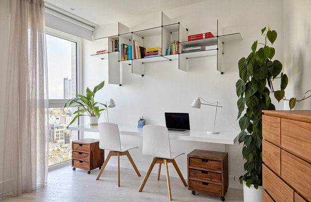Scandinavian Home Office & Library by Kia Designs