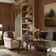 Transitional Home Office by Thompson Custom Homes