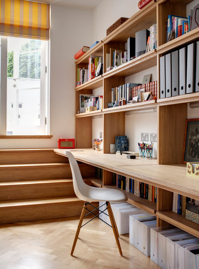 Contemporary Home Office by Redesign London Limited