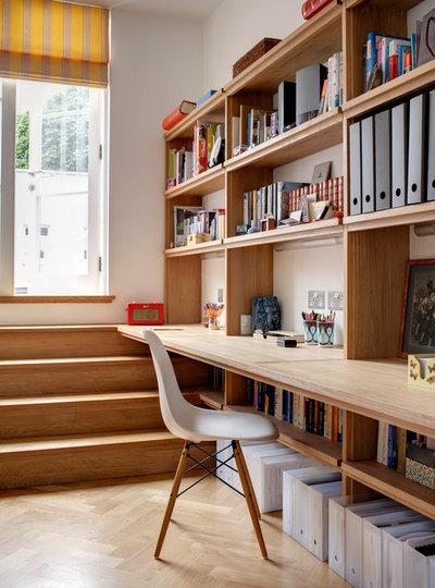 コンテンポラリー ホームオフィス・仕事部屋 by Redesign London Limited