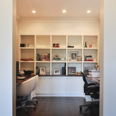 Traditional Home Office by Sarah Gallop Design Inc.