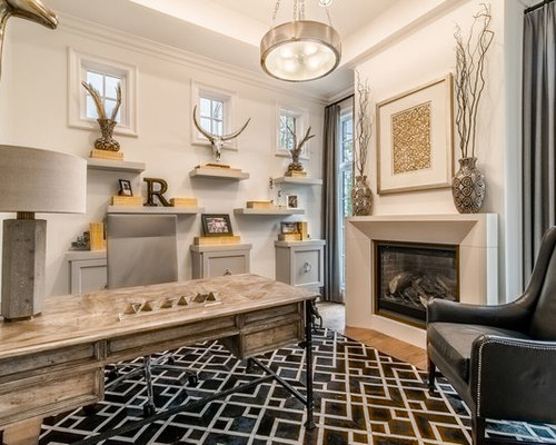 Small home office design ideas renovations photos with - Home office design ideas with stones trails ...