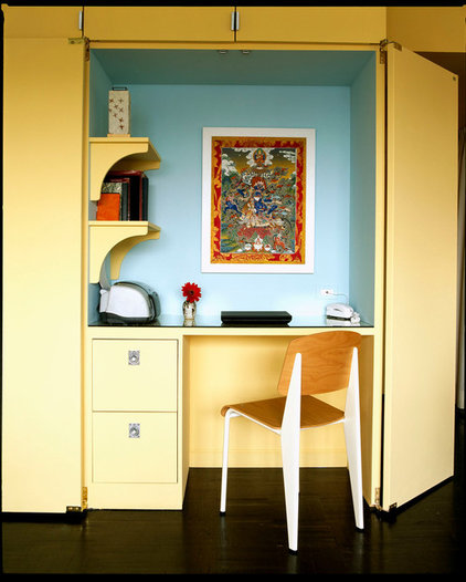 Contemporary Home Office by Leslie Banker