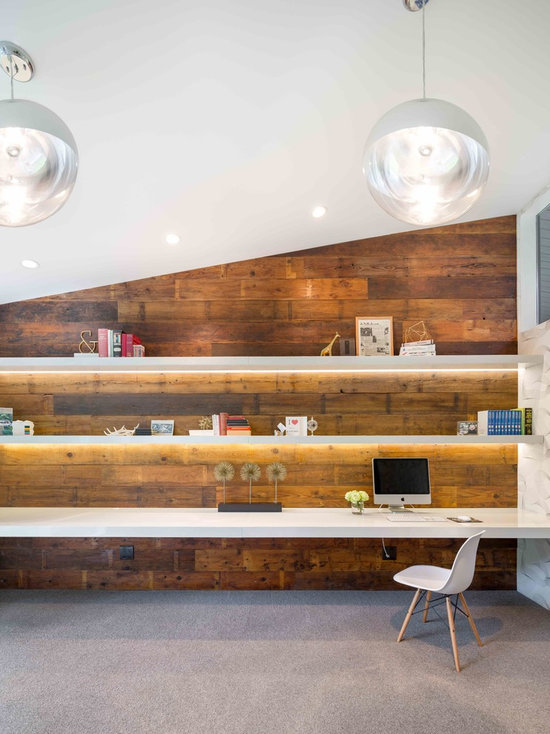 Mid Century Modern Home Office midcentury modern home office design ideas, remodels & photos