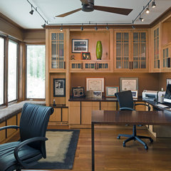 eclectic home office by HBF plus Design