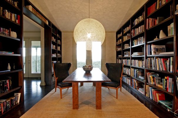 Contemporary Home Office by Rachel Mast Design