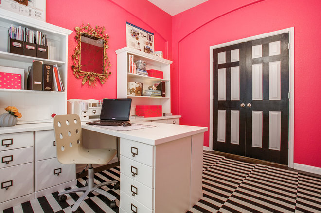 Contemporary Home Office by Pink Door Designs