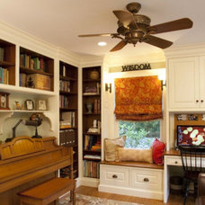 Transitional Home Office by COVENANT KITCHENS & BATHS INC