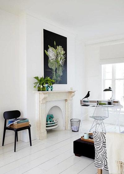 Scandinavian Home Office & Library by Read Interiors Ltd