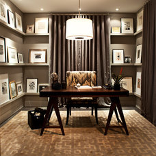 Contemporary Home Office by Kelly Deck Design