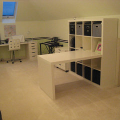 modern home office White work space