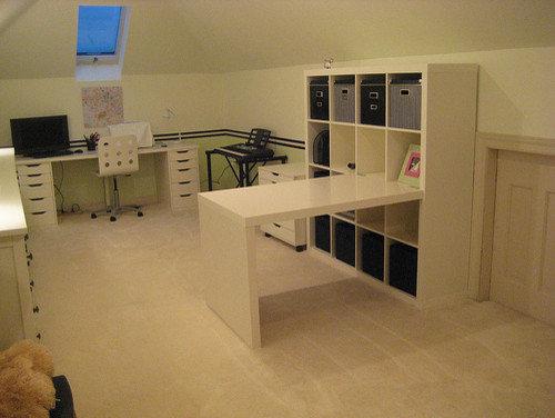 Ikea kallax wohnideen einrichtungsideen houzz for Bureau kallax