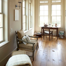 Rustic Home Office by Whitestone Builders