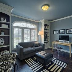 Carpet Floor Black Wall Color Home Office Design Ideas