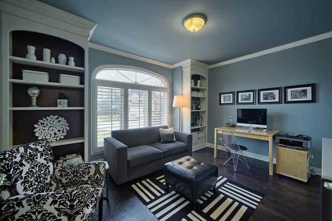 Contemporary Home Office by ann bridgman