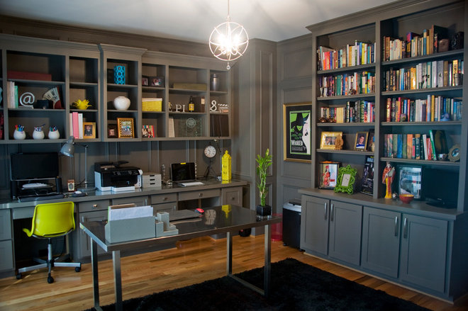 Contemporary Home Office by Attention to Detail Home Remodeling