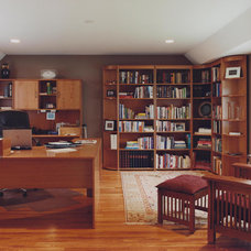 Traditional Home Office by Chicago Renovation & Development