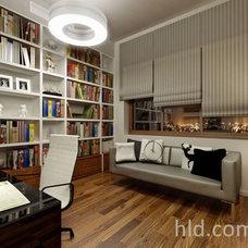 Contemporary Home Office by High Level Design studio projektowania wnętrz
