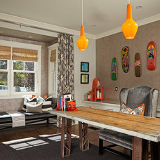 Transitional Home Office by Brooke Wagner Design
