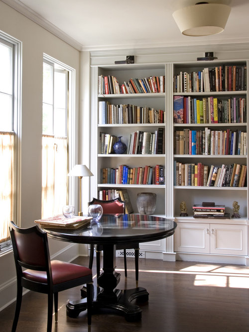 Library table home design ideas pictures remodel and decor Traditional home library design ideas